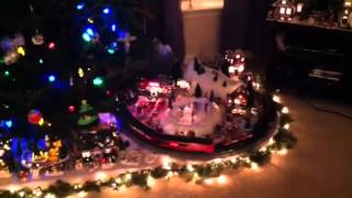 Lionel train layout under the Christmas tree 2012