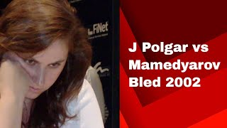 Crushing Attack by Judit Polgar in Ruy Lopez: J Polgar vs Mamedyarov Bled 2002