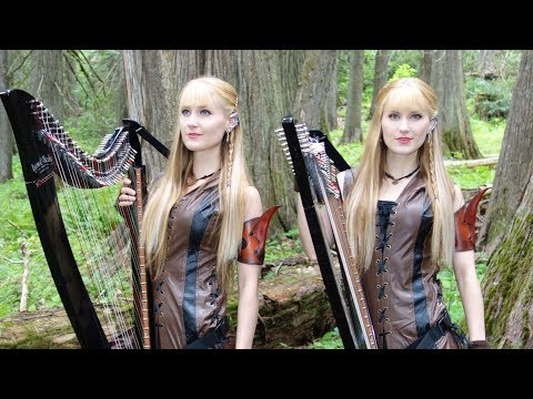 The DRAGONBORN COMES (Skyrim / Oblivion) - Harp Twins, Camille and Kennerly thumbnail