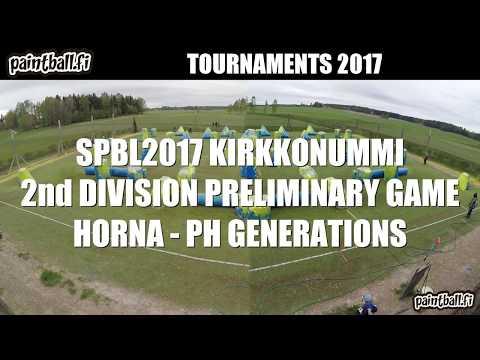 Horna vs PH Generations - SPBL2017 Kirkkonummi
