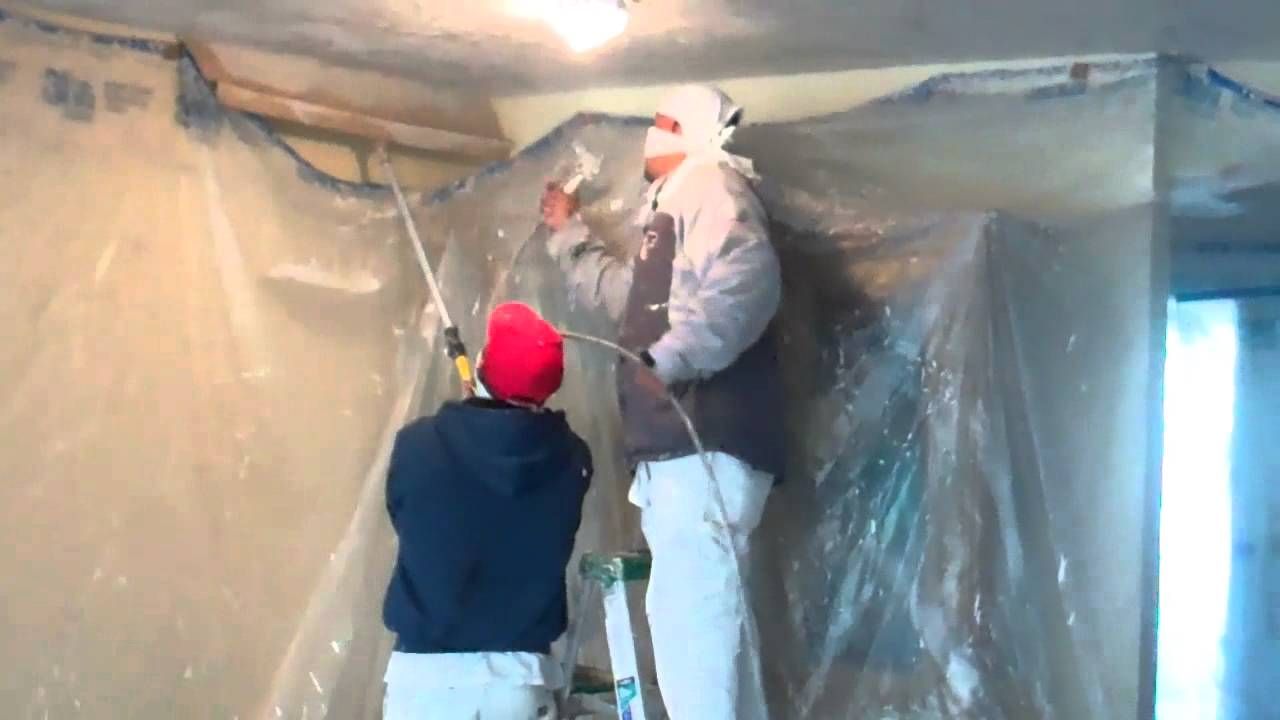 Popcorn Ceiling Removal Replaced With A Knock Down Texture