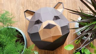 How to Make a Papercraft Grizzly Bear | 3D Paper DIY
