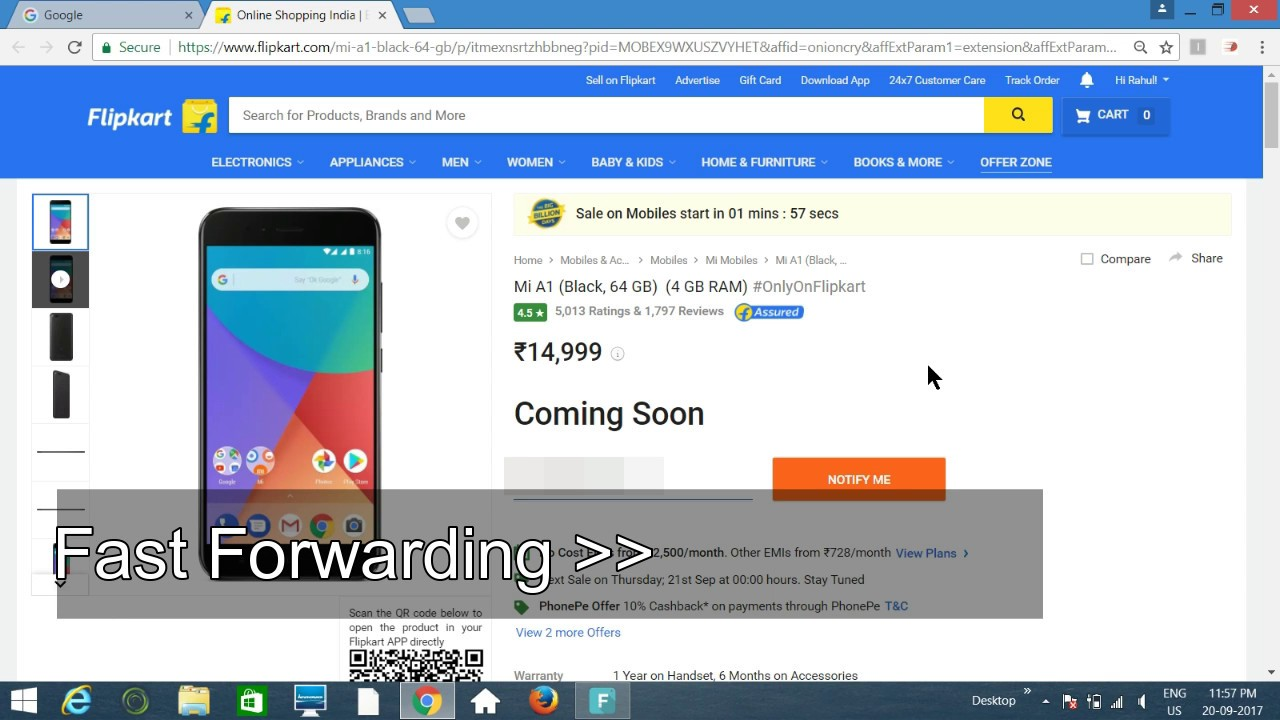 How To Book A Mobile In Flipkart Flash Sale With Proof 100% Working ||  Redmi Mi A1 Sale Live Booking