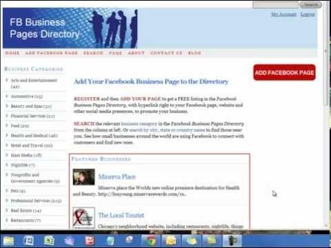 Free Directory for Facebook Business PagesKaynak: YouTube · Süre: 6 dakika1 saniye