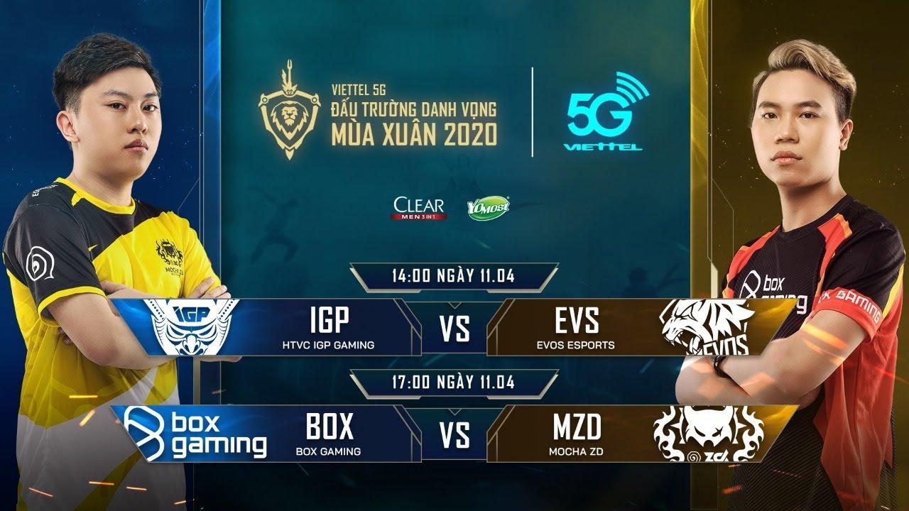 Trực Tiếp: HTVC IGP GAMING vs EVOS ESPORTS – Viettel 5G ĐTDV mùa Xuân 2020