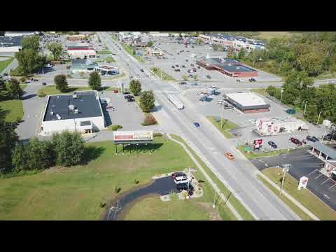 Johnstown, NY Rt. 30A facing North-Aerial view with drone