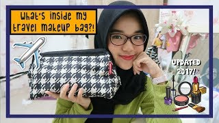 Download Video What's In My Travel Makeup Bag?!✈️ UPDATED 2017! || Nada Syifaa (Indonesia) MP3 3GP MP4