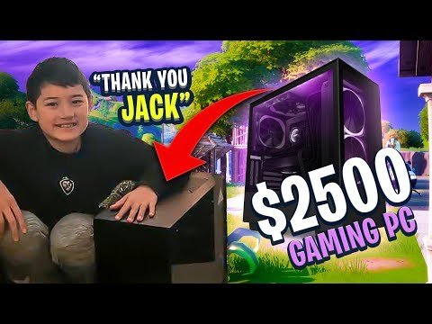 I SENT CONNOR A $2,500 PC!!! HE LOVES IT! (Fortnite: Battle Royale)