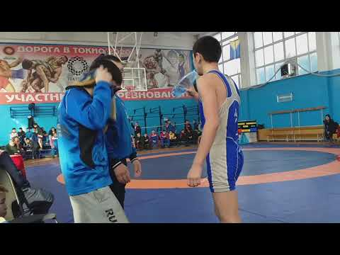 Лоовай Аржаан (синий).  1/4 финала. 51 кг. г.Кызыл. 05.12.19. Вольная борьба