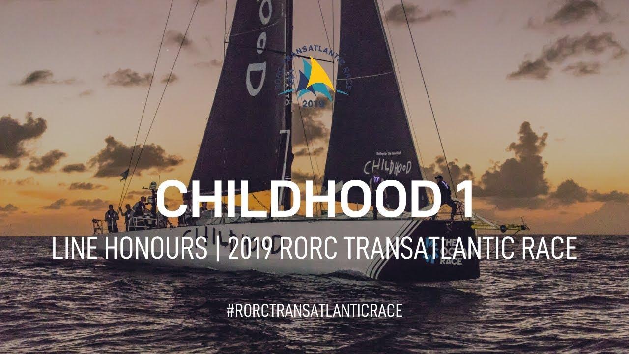 Childhood 1 Wins the IMA Trophy | RORC Transatlantic Race