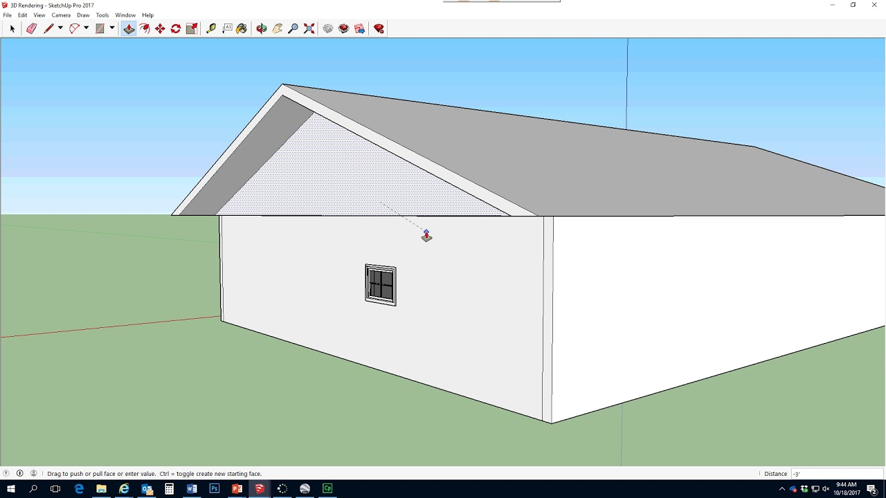 How to draw a gambrel roof in sketchup - Adding A Roof In Sketchup