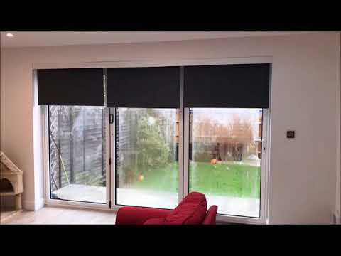 Electric & Battery Blinds for Bifold Doors by Radiant Blinds
