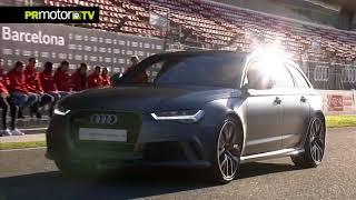Fc barcelona audi car handover 2017 footage. en un evento lleno de velocidad la pista carreras del circuit barcelona-catalunya, los futbolistas ...