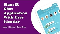 Chat Application using ASP.NET Core SignalR with User Identity
