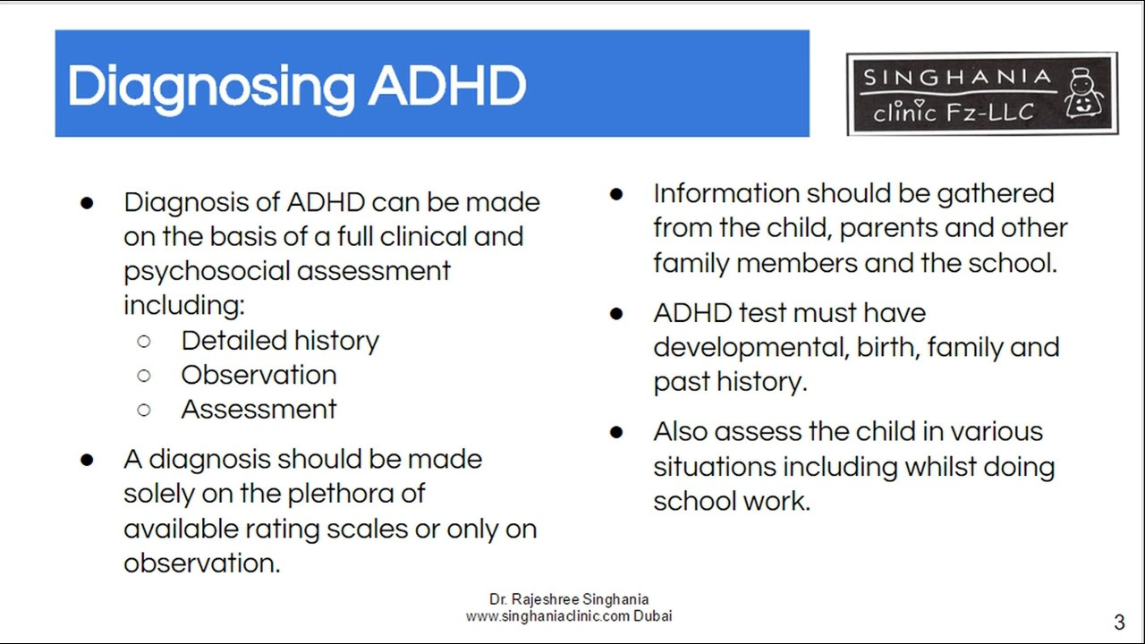 ADHD Test For Kids   No Single Test Is Used To Diagnose ...