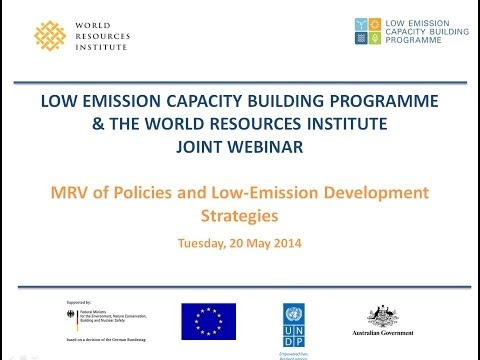 MRV of Policies and Low Emission Development Strategies
