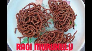 INSTANT RAGI MURUKULU/ healthy snack recipe/how to make ragipindi karappusa