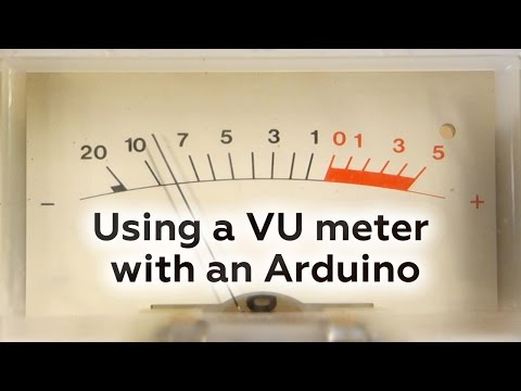 Using a VU meter with an Arduino