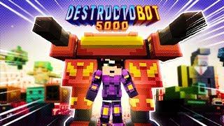 ROBÔ GIGANTE DESTRUIDOR! (Minecraft PE)