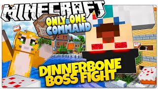 Minecraft | STAMPY CAT WANTS CAKE! | Dinnerbone Boss! | Only One Command (Minecraft Vanilla Mod)