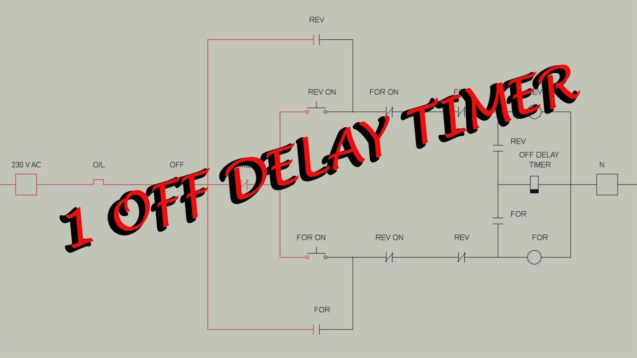 reverse forward motor control circuit diagram with one off delay timer  wiring diagram for a off delay timer #8