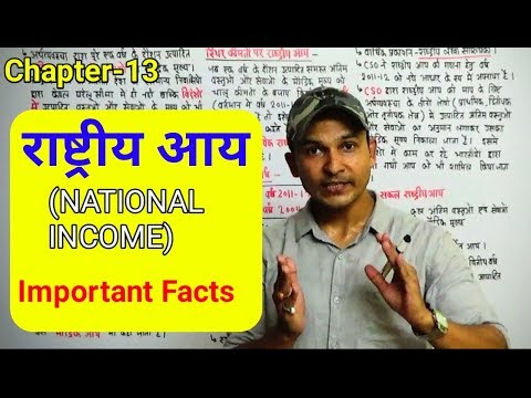 NATIONAL INCOME   INDIAN ECONOMY  CHAPTER -13   IMPORTANT FACTS FOR ALL GOV JOBS PREP.