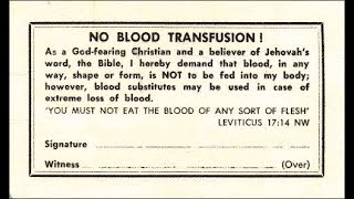 Did Jehovah in Acts 15 prohibit blood transfusions? JWs WatchTower