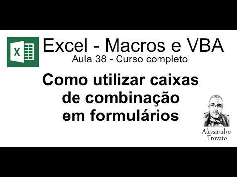 38 curso de macros e excel vba caixa de combinação youtube38 course macros and excel vba combobox