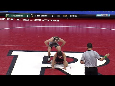 133 LBs: Logan Griffin (Michigan State) vs. #5 Nick Suriano (Rutgers) | Big Ten Wrestling