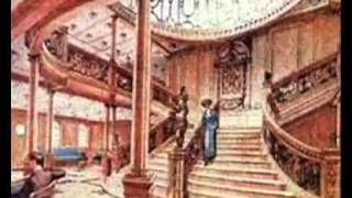 RMS Titanic. Grand (and Aft) staircase now and then