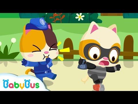 ¡Vamos! Bebé Gatito Policía | Seguridad Para Niños | Canciones infantiles | BabyBus Español