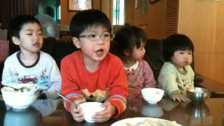 Benny & Cindy eat dumpling in Dr. Chou's home