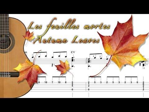 autumn leaves fingerstyle guitar tab youtube music lyrics. Black Bedroom Furniture Sets. Home Design Ideas