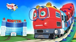 Ambulance Cartoon - Toy Factory Train Cartoon for Kids - Happy Birthday Thomas and Friend