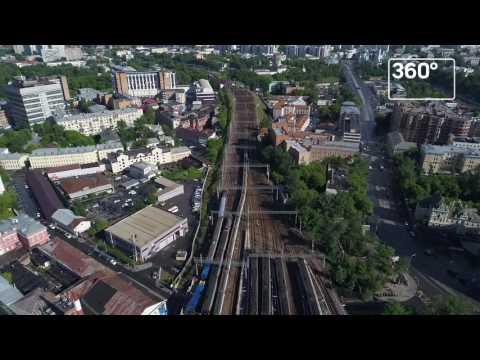Два электрички столкнулись в районе Курского вокзала в Москве