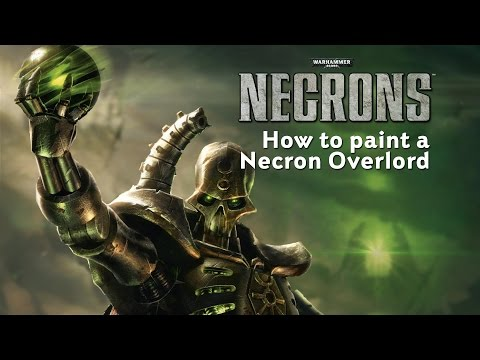Necrons - How To Paint A Necron Overlord.
