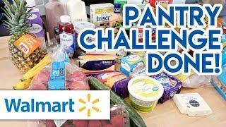 🛒 $68 WALMART GROCERY HAUL + MEAL PLAN 😁 LAST WEEK OF THE PANTRY CHALLENGE!