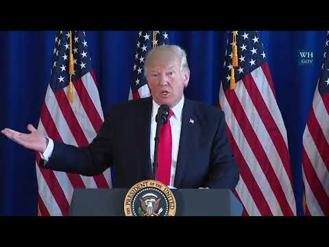 Remarks: Donald Trump Signs Veterans Act, Addresses Charlottesville - August 12, 2017