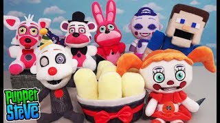 Five Nights at Freddy's Funko Sister Location Fnaf Plush Set Review Exclusives Puppet Steve