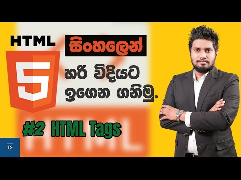 Basic HTML Tags : HTML in Sinhala - Lesson 02  | Tech Side