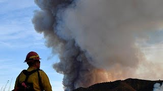 Firefighters make progress in California fires thumbnail