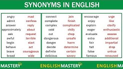 Learn 150 Common Synonyms Words in English to Improve your Vocabulary