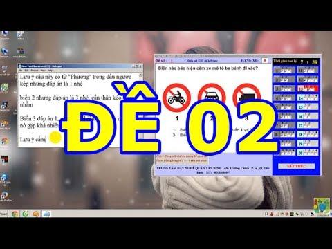 Mẹo thi bằng lái xe A1- 150 câu hỏi thi bằng lái xe A1 (Đề số 2 có tiếng) thibanglaixehn.com
