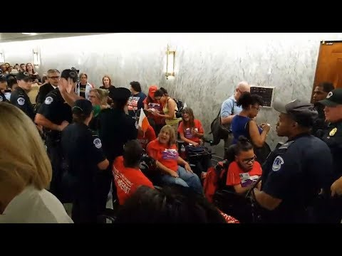 RT America: Healthcare protesters arrested in US Capitol as Graham-Cassidy hearing begins