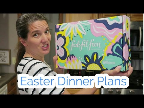 Easter dinner plans and what we ate today