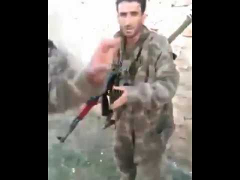 Türk askeri ve özgür suriye ordusunun yakaladığı ypg İTİ