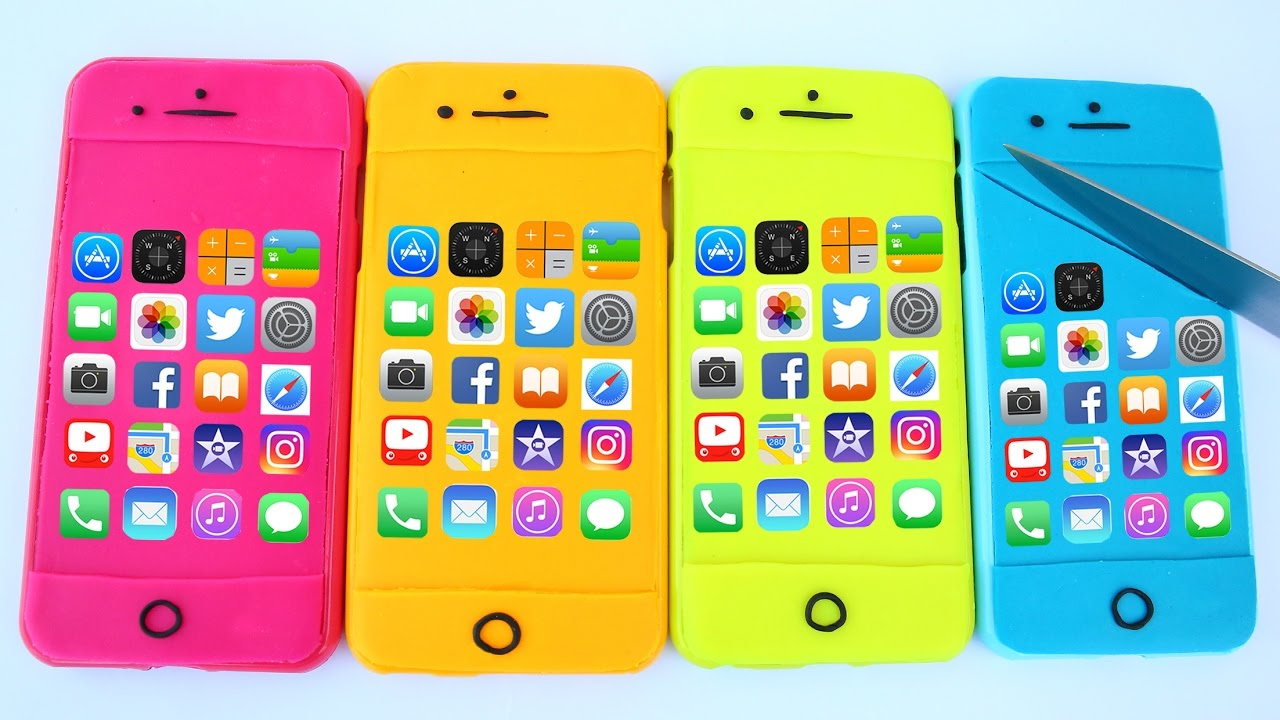 DIY How Make Colors Iphone 7 Plus Play Doh Apple Phone ...