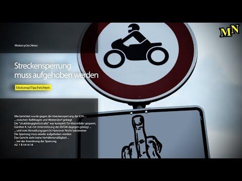 Streckensperrung muss aufgehoben werden | Motorrad Nachrichten - Short News