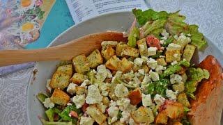Салат с лососем и запеченной свеклой под медовой заправкой // Dianatadi