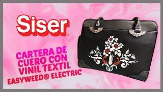 Cartera de Cuero con Vinil Textil EasyWeed® Electric